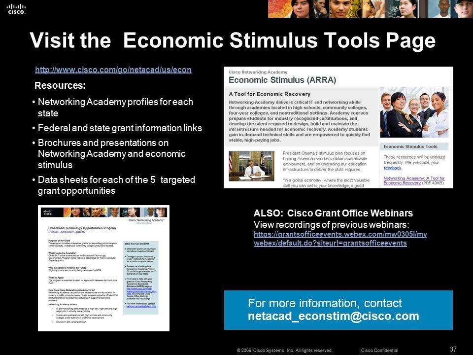 37 © 2009 Cisco Systems, Inc.