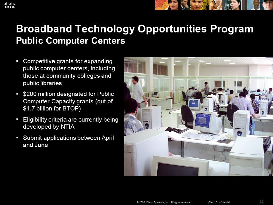 44 © 2009 Cisco Systems, Inc.