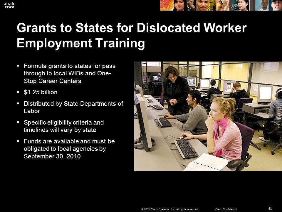 45 © 2009 Cisco Systems, Inc.