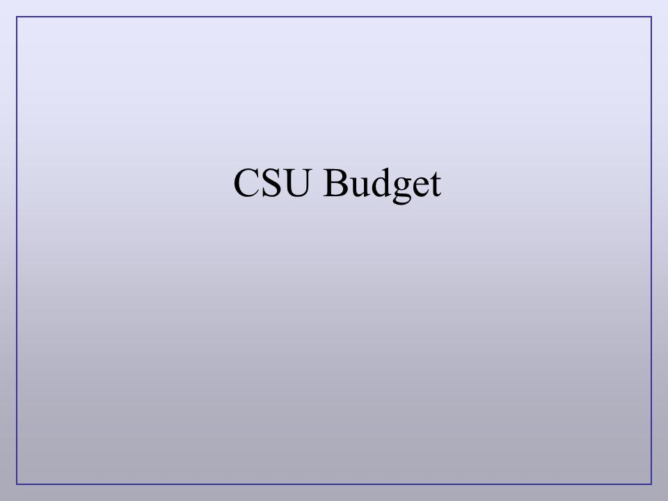 CSU Budget