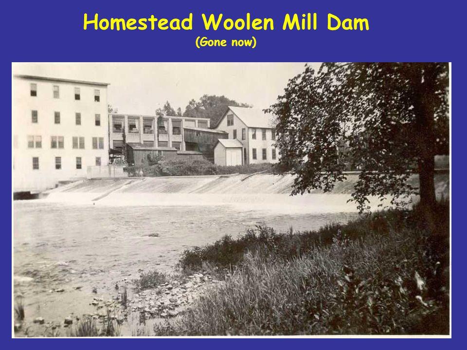 Homestead Woolen Mill Dam (Gone now)