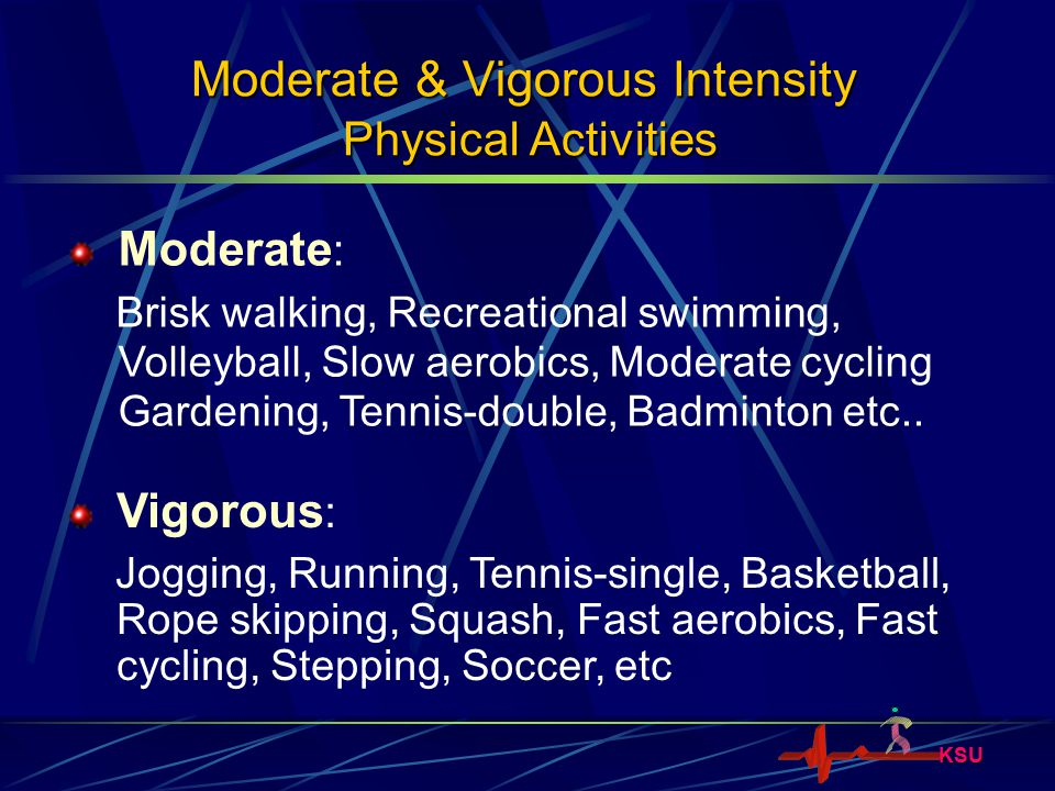 KSU What is the Amount of Physical Activity that Promotes Health.