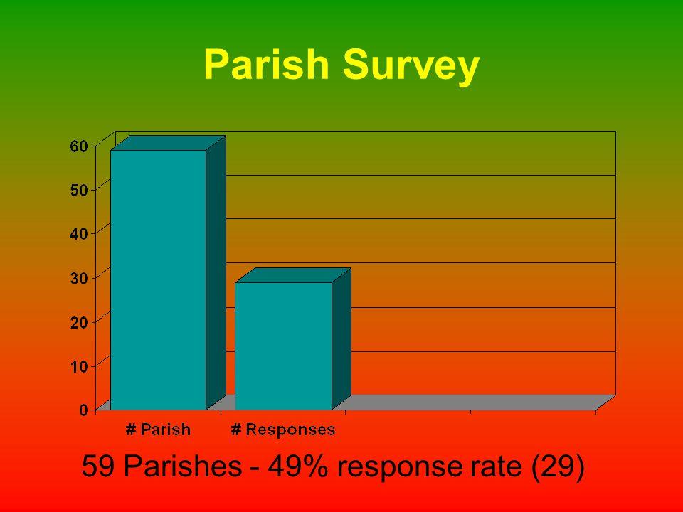 Parish Survey 59 Parishes - 49% response rate (29)