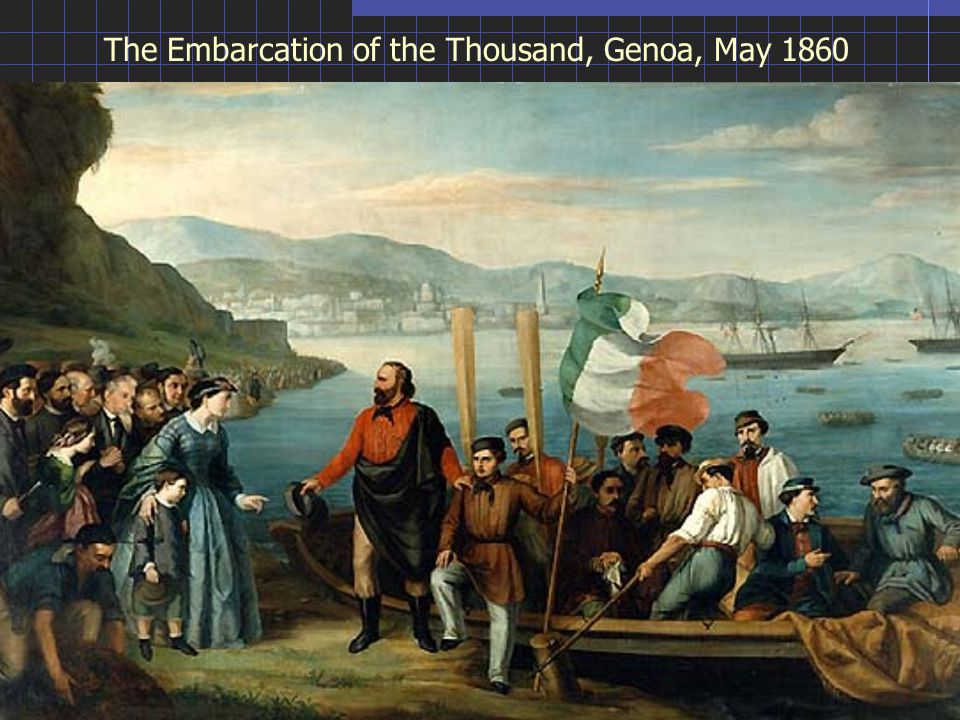 The Embarcation of the Thousand, Genoa, May 1860
