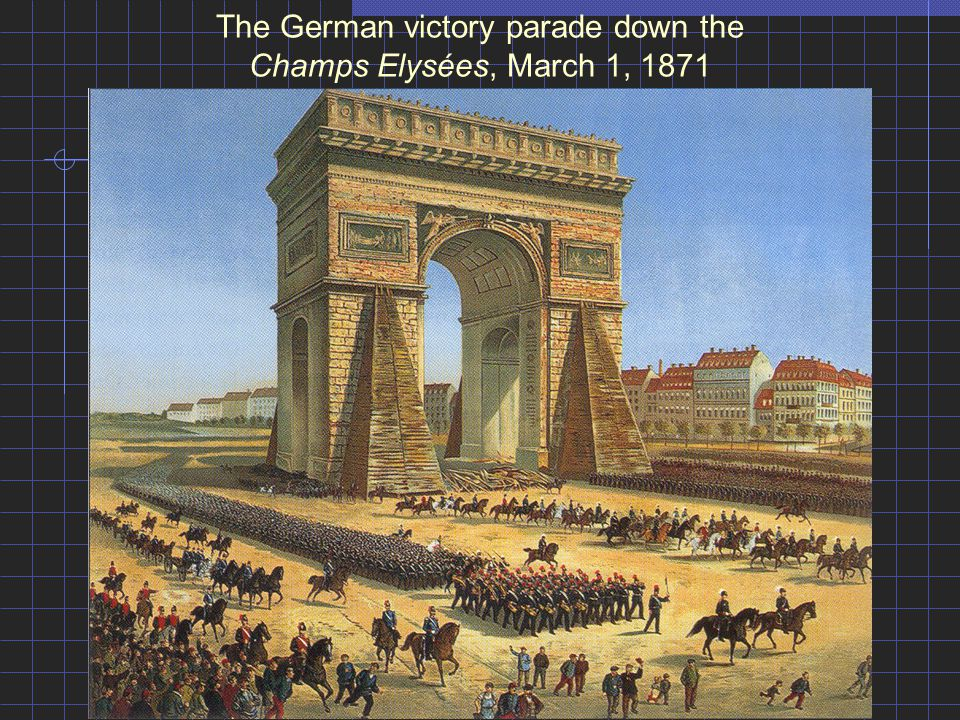 The German victory parade down the Champs Elysées, March 1, 1871