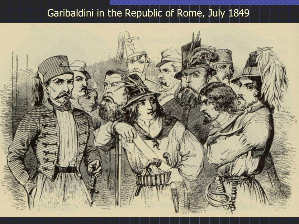 Garibaldini in the Republic of Rome, July 1849