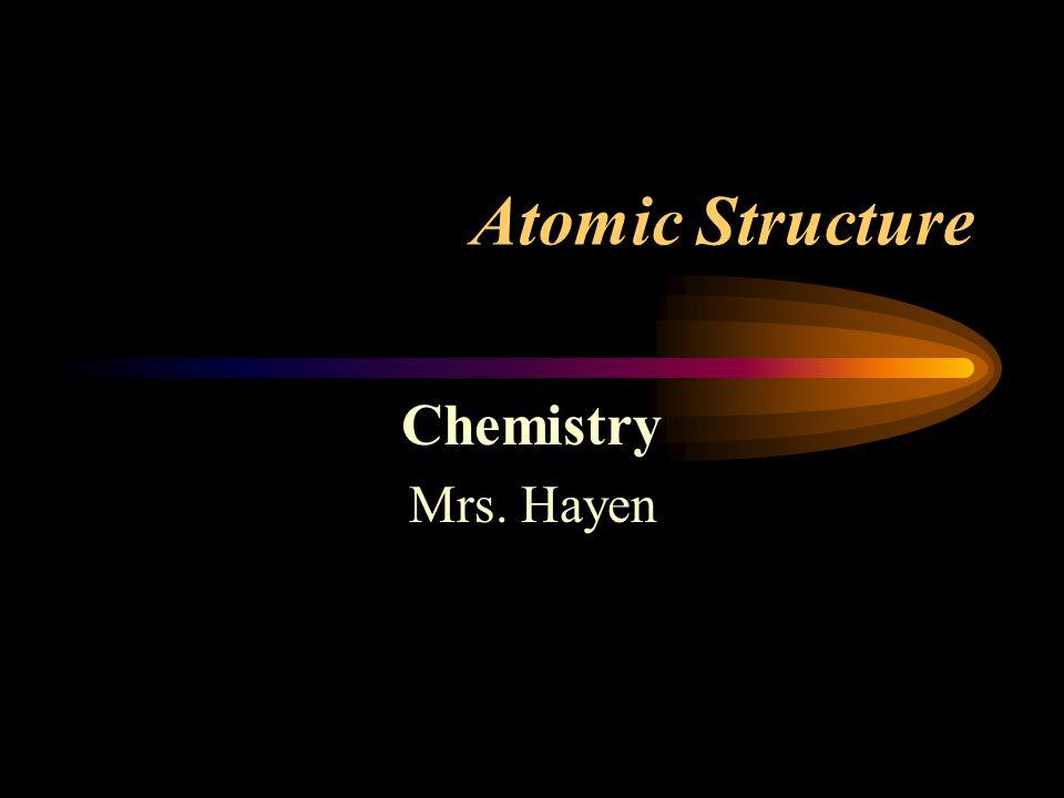 Atomic Structure Chemistry Mrs. Hayen
