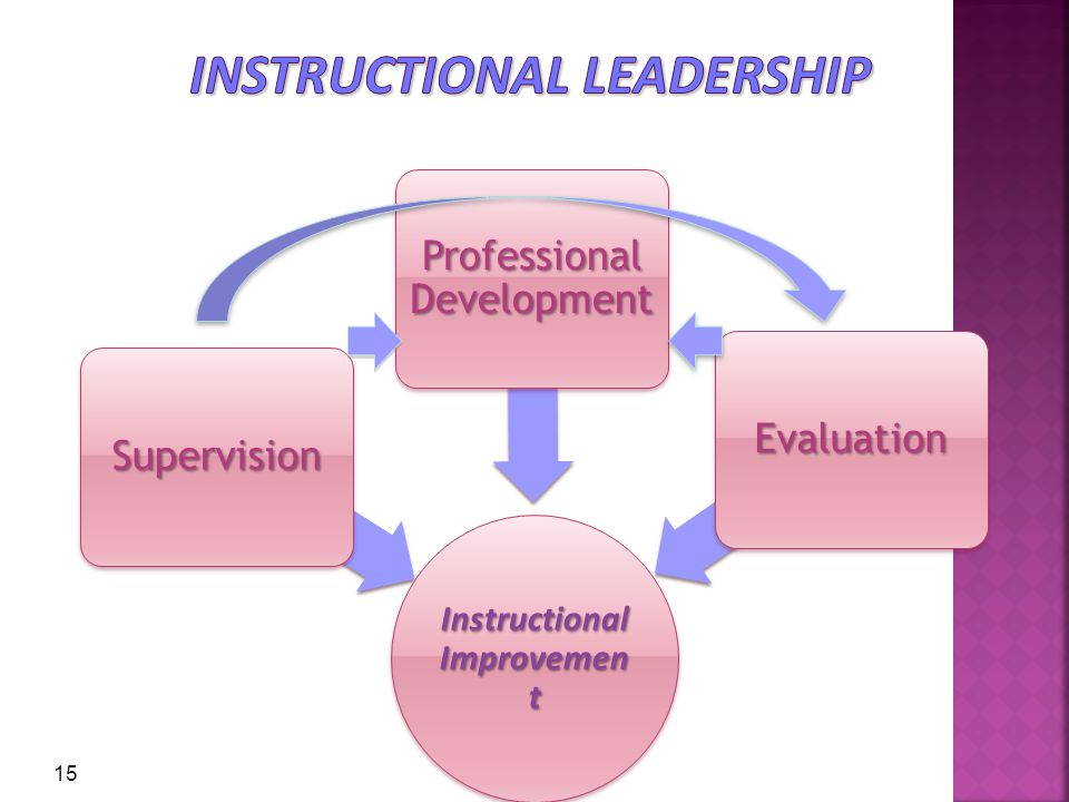Instructional Improvement Supervision Professional Development Evaluation 15