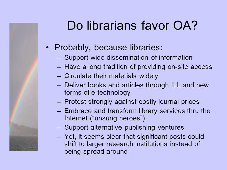 Do publishers favor OA.