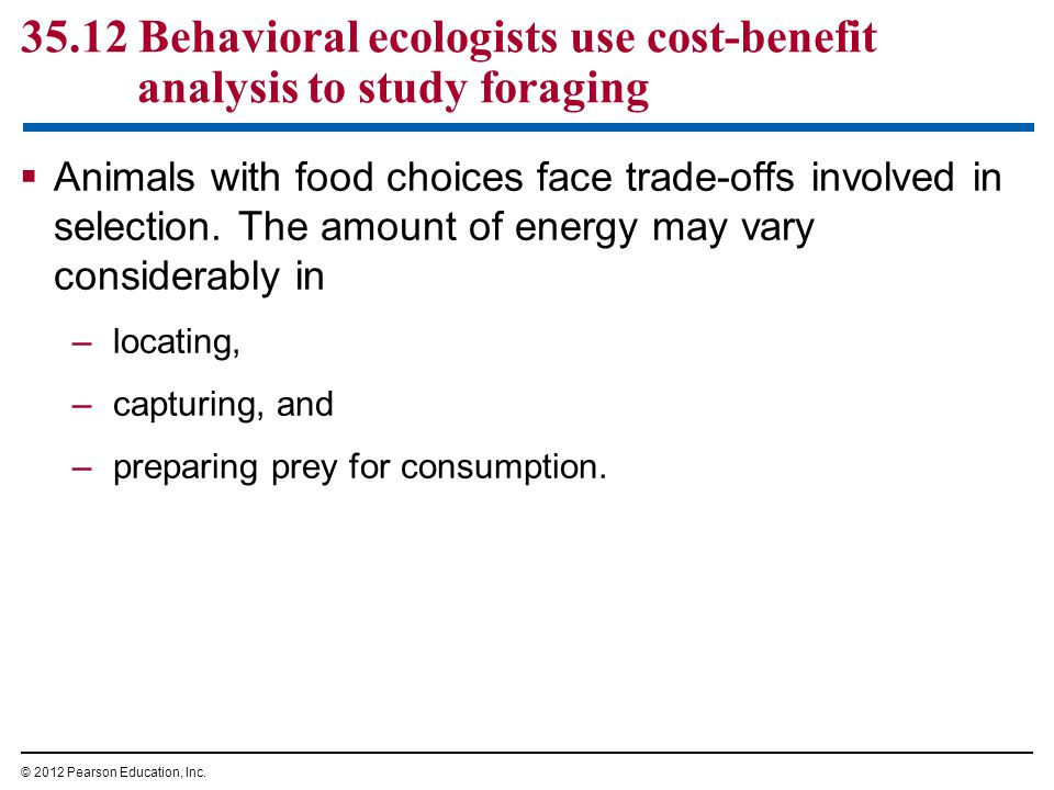  Animals with food choices face trade-offs involved in selection.