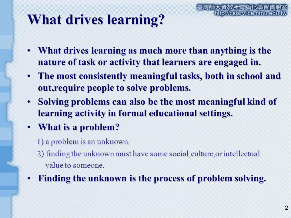 3 Kinds of Problem Solving Jonassen(2000b) articulated a typology of 11 different kinds of problem.Jonassen(2000b) articulated a typology of 11 different kinds of problem.