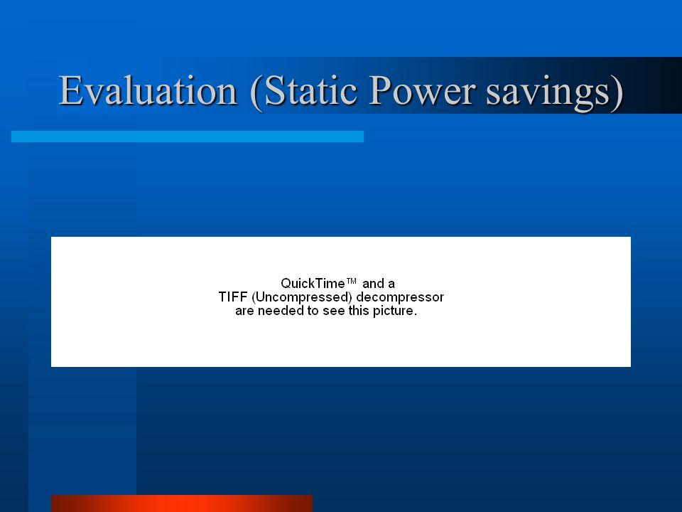 Evaluation (Static Power savings)