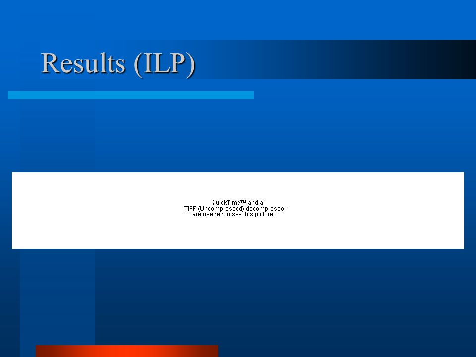 Results (ILP)