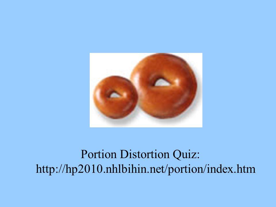 Portion Distortion Quiz: http://hp2010.nhlbihin.net/portion/index.htm