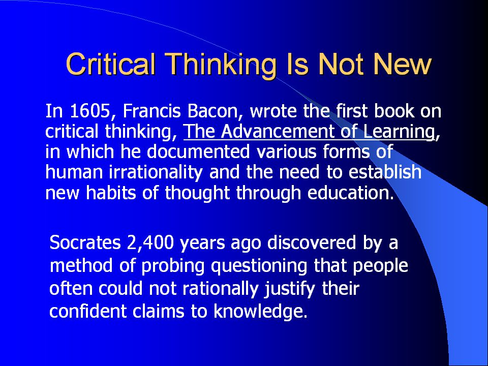 what is thinking critically and why is it important