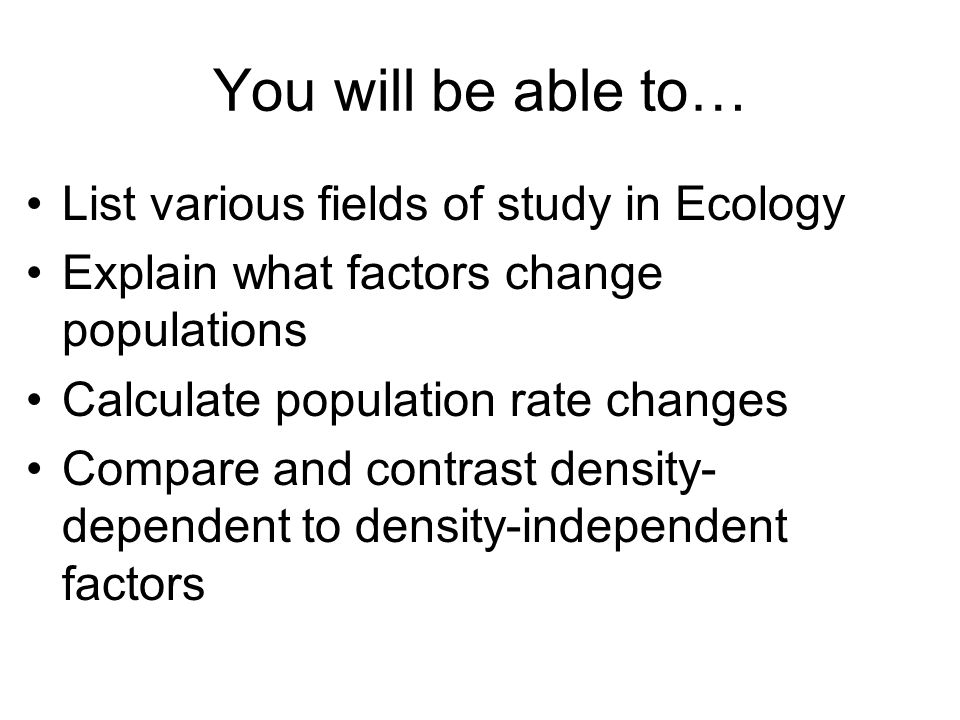 Chapter 53 Clicker Question #4: Often growth cycles of one population affects the cycle of another.