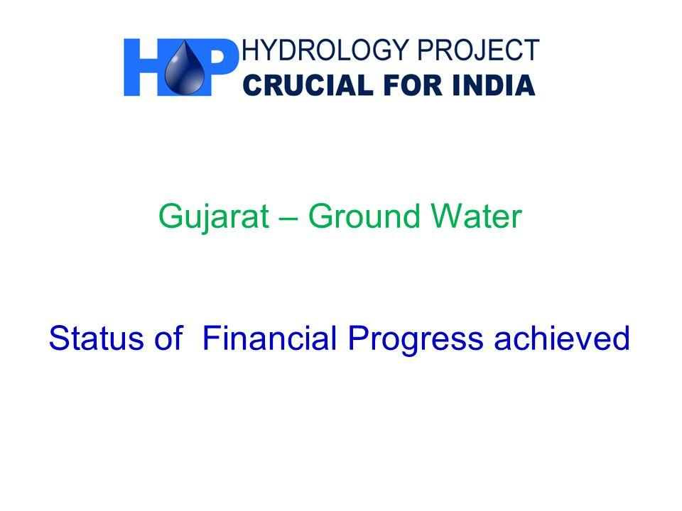 Gujarat – Ground Water Status of Financial Progress achieved