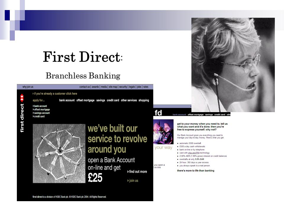ranchless Banking First Direct : B ranchless Banking