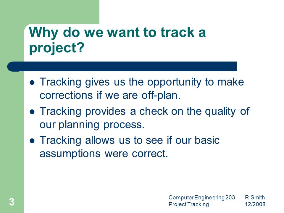 Computer Engineering 203 R Smith Project Tracking 12/2008 4 What is the MOV.