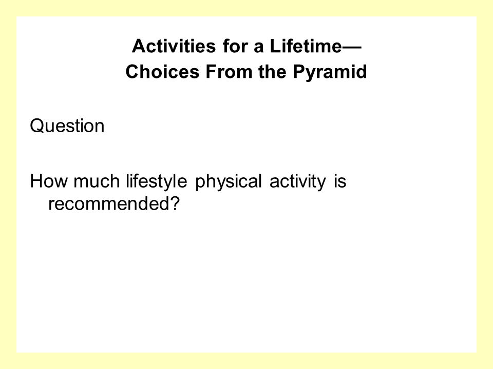 Answer All teens should do 30 minutes of moderate physical activity on most days of the week.