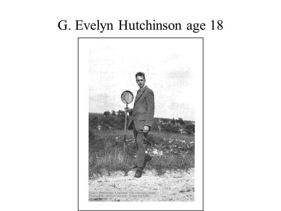 G. Evelyn Hutchinson age 18