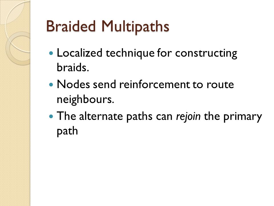 Braided Multipaths Localized technique for constructing braids.