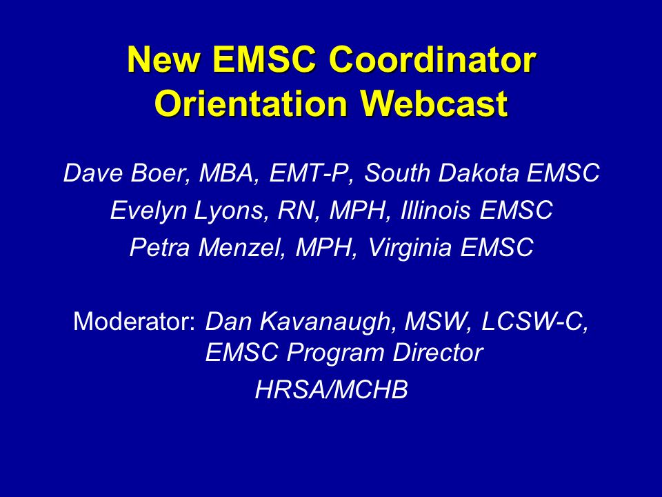 Mentoring your Family Representative Invite your family rep to the Annual EMSC Grantee Meeting.