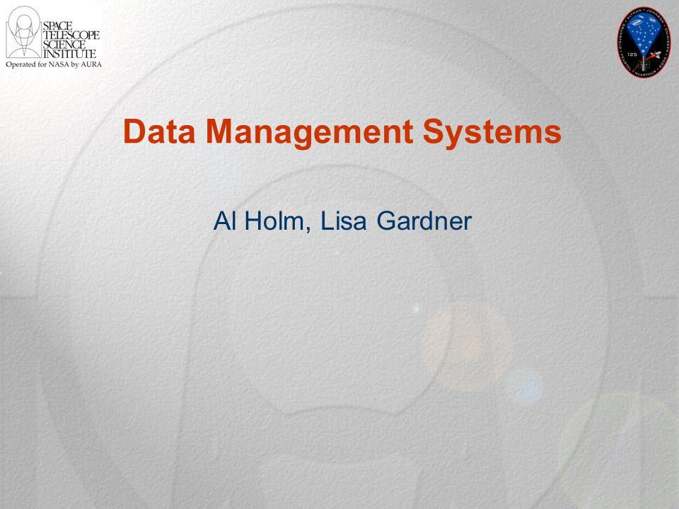 Data Management Systems Al Holm, Lisa Gardner