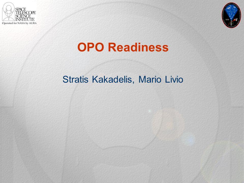 OPO Readiness Stratis Kakadelis, Mario Livio