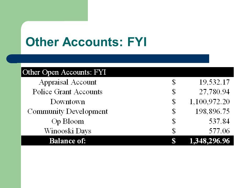 Other Accounts: FYI