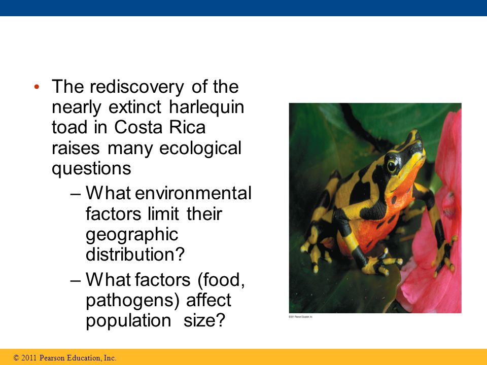 Ecology Big Idea 1 Geographic Distribution of Species -Dependent on environment Population size -Food supply, pathogens, natural predators