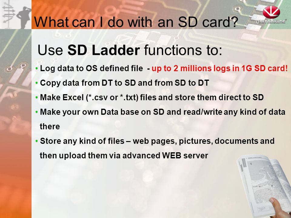 What can I do with an SD card.