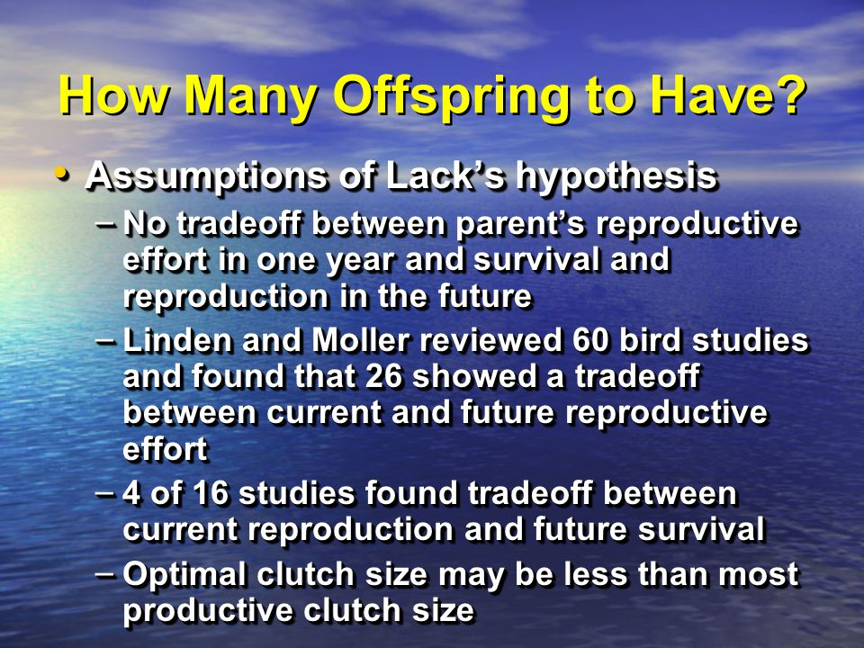 How Many Offspring to Have.