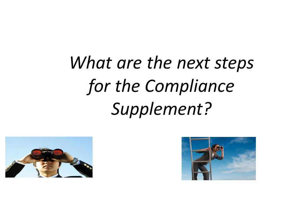 What are the next steps for the Compliance Supplement
