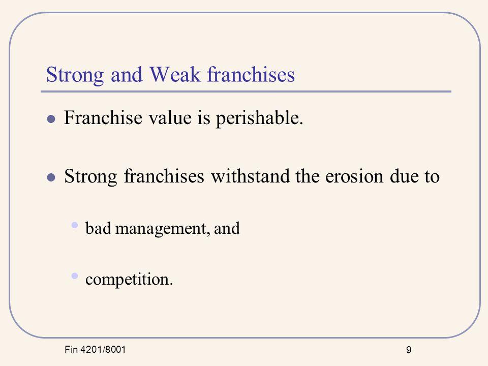 Fin 4201/8001 30 Tenet: High Profit Margins In 1988-89 ROE and Pretax margins were improving under the leadership of Roberto Goizueta.