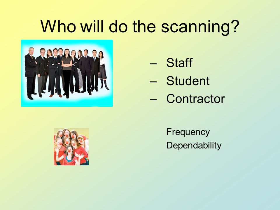 Office of Research Services and Administration Scanning Personnel Students Part time employees