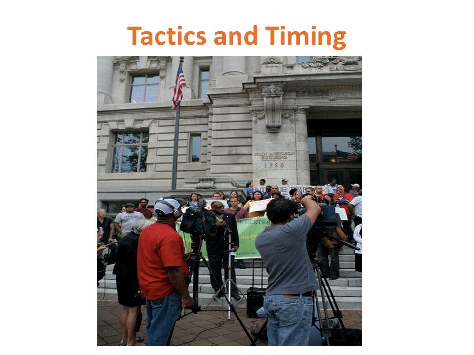 Tactics and Timing