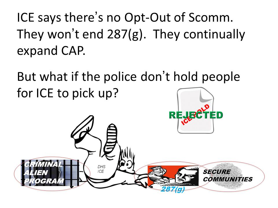 ICE says there's no Opt-Out of Scomm. They won't end 287(g).