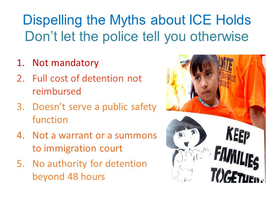 Oh yeah…… ICE DETAINERS ARE NOT MANDATORY!