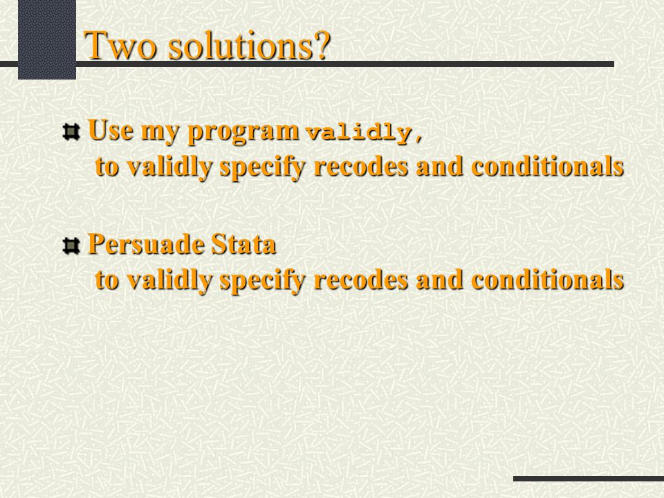 Two solutions.