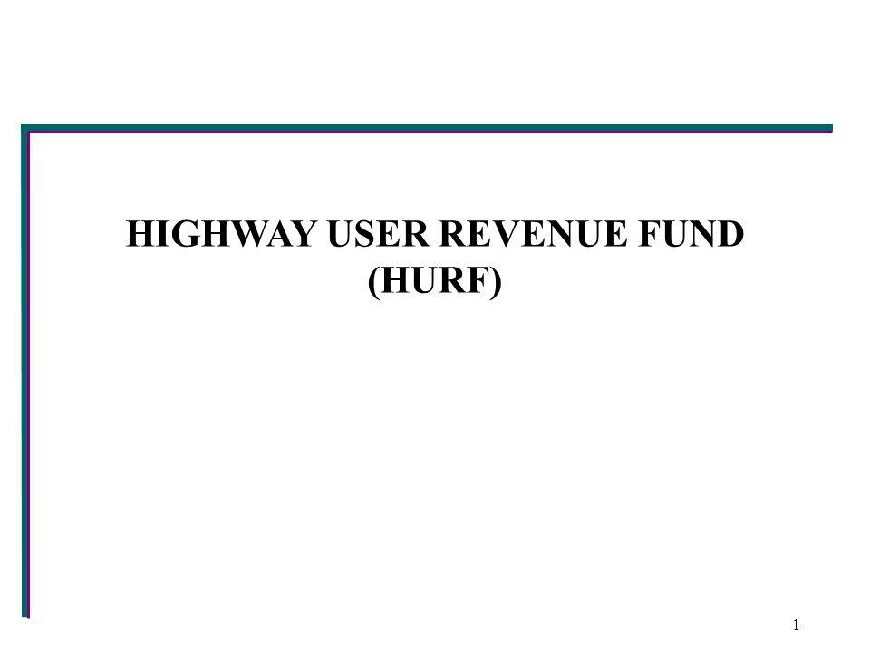HIGHWAY USER REVENUE FUND (HURF) 1
