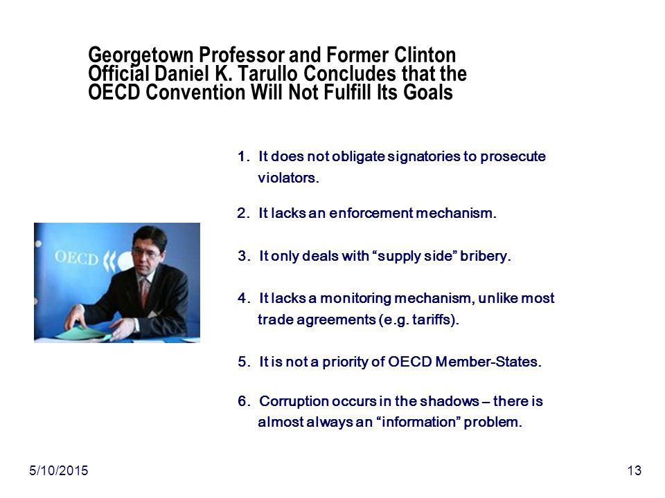 5/10/201513 Georgetown Professor and Former Clinton Official Daniel K.
