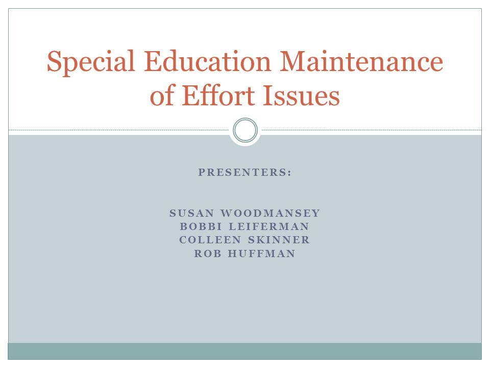 What is maintenance of effort (MOE).
