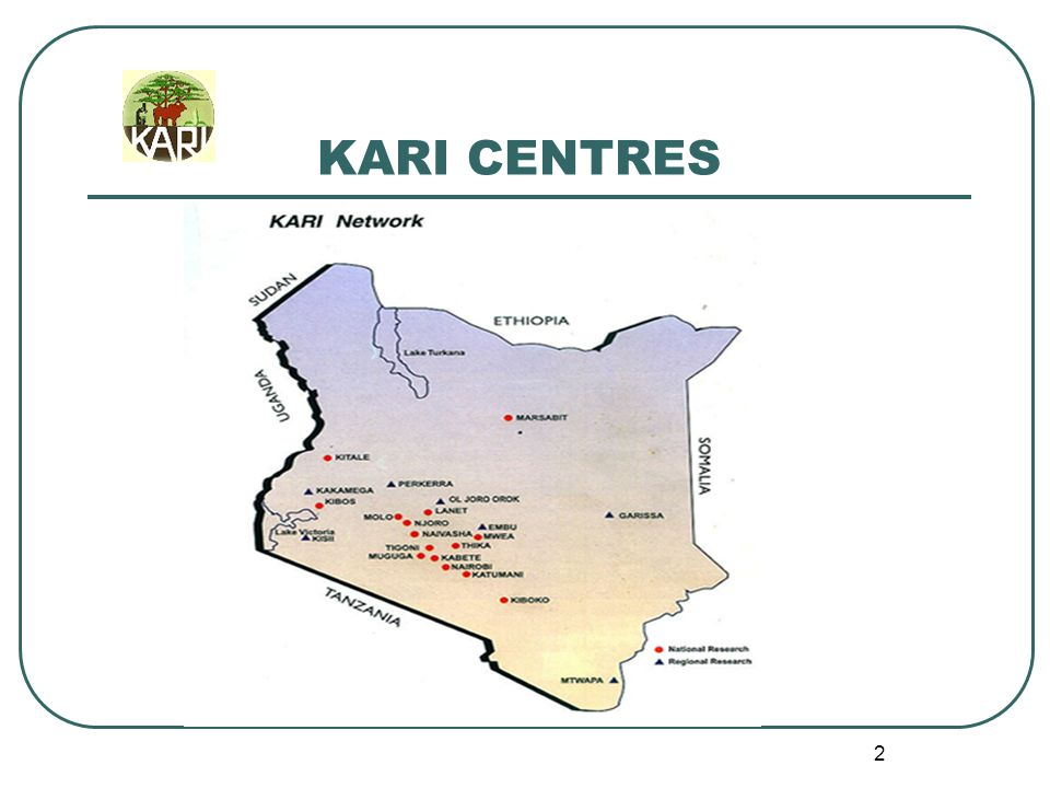 1 Kenya Agricultural Research Institute KARI: Capacity for Research Dr.