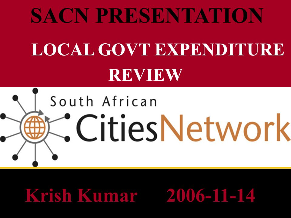INTRODUCTION Amalgamation of 843 municipalities into 283 must not be under- estimated in terms of complexity, HR rationalisation, disparate systems, policies and procedures - all in tandem with normal functioning of the Admin Apartheid legacy / rationalisation / legislative challenges Maintenance (operating expenditure) and renewal (capital expenditure) -Added areas with no tax base and poor ability to pay -Poor service quality / aging infrastructure inherited Budget allocations need to be linked to an assessment of actual needs and affordability Severe constraints on skilled and experienced resources -acknowledge that capacity differs between municipalities -metro / well-capacitated municipalities but still have the country ' s poorest cities – urban migration