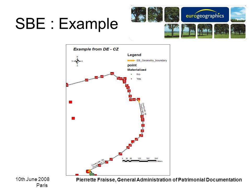 10th June 2008 Paris Pierrette Fraisse, General Administration of Patrimonial Documentation SBE : Example