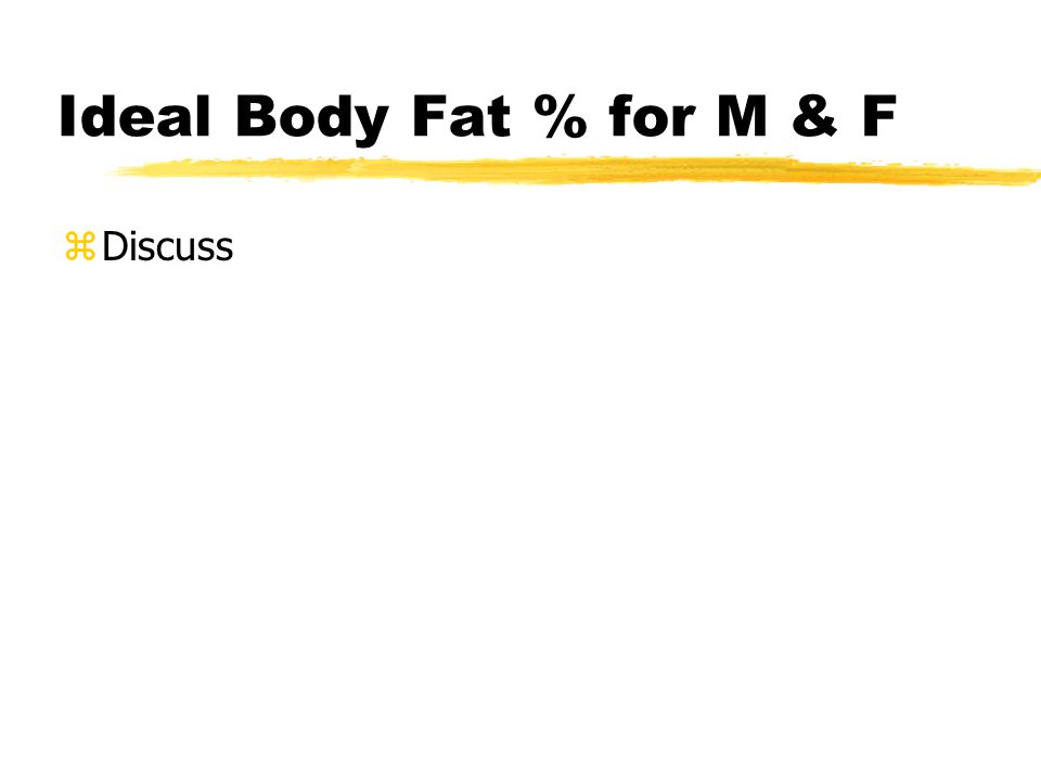 Ideal % Body Fat Objective 2 of 4