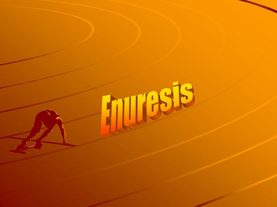 Enuresis Multitreatment approach Fluid restriction Bladder exercises Timed voiding Enuresis alarms Reward system Medications