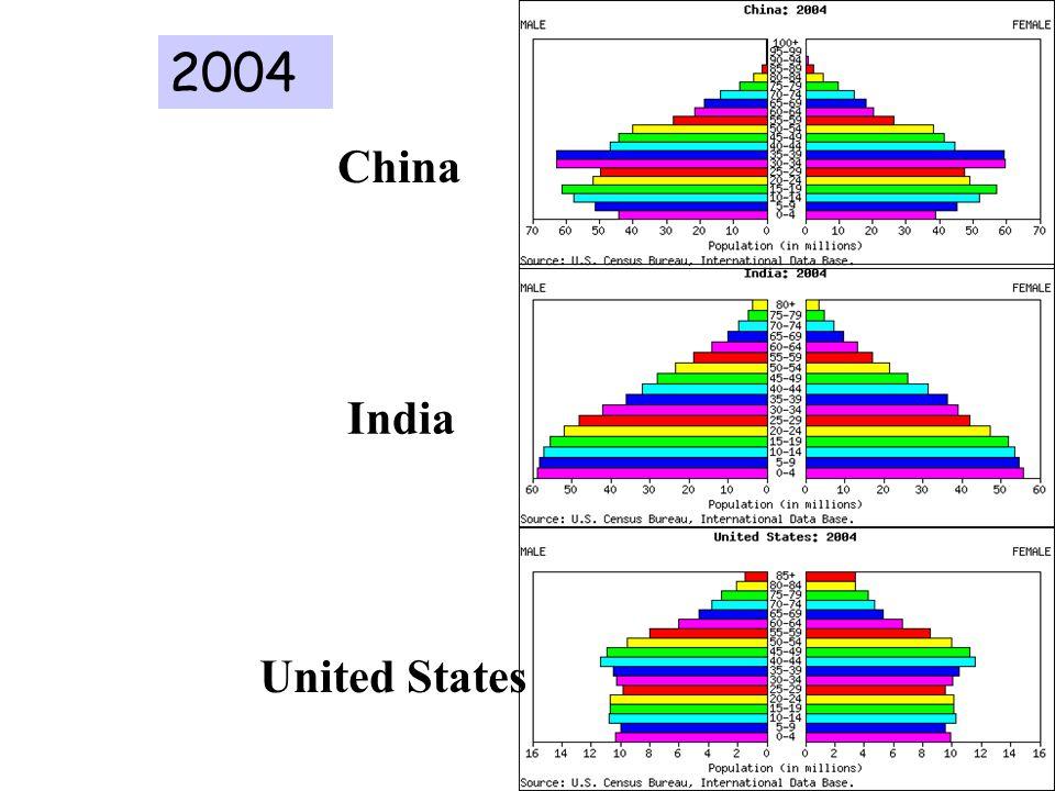 China India United States 2004