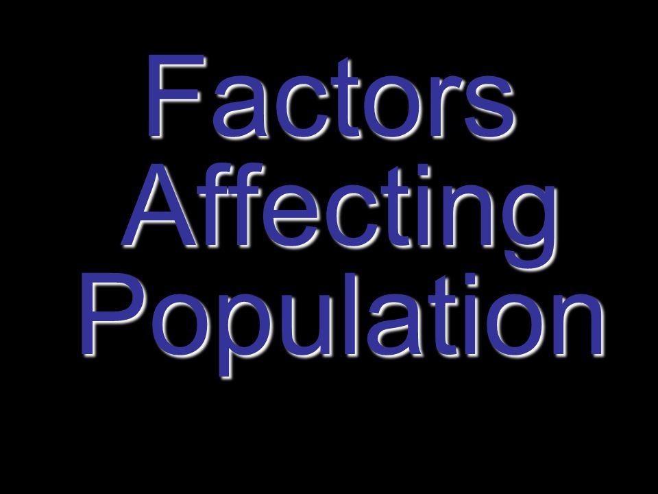 Factors Affecting Population